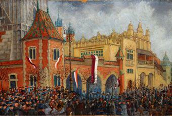 Klemens Bąkowski, Zajęcie odwachu, wł. Muzeum Historycznego Miasta Krakowa
