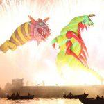 parada smokow pokaz na wisle krakow 2018 82 150x150 - Wielkie Plenerowe Widowisko na Wiśle - Smoki z Dziennika Marco Polo - galeria zdjęć