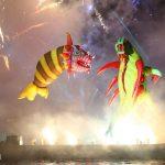parada smokow pokaz na wisle krakow 2018 90 150x150 - Wielkie Plenerowe Widowisko na Wiśle - Smoki z Dziennika Marco Polo - galeria zdjęć