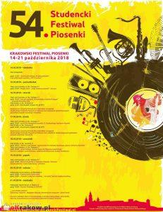 krakow studencki festiwal piosenki 231x300 - 54 Studencki Festiwal Piosenki, Kraków 14-21 października 2018
