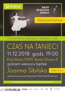 czas na taniec plakat 212x300 - Baletowe historie. 11 grudnia 2018 r.