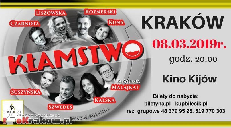 """""""Kłamstwo"""" komedia małżeńska w Kinie Kijów w Krakowie"""