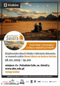slajdowisko pustynne krakow 212x300 - Pustynne opowieści z kraju Nabatejczyków. Slajdowisko