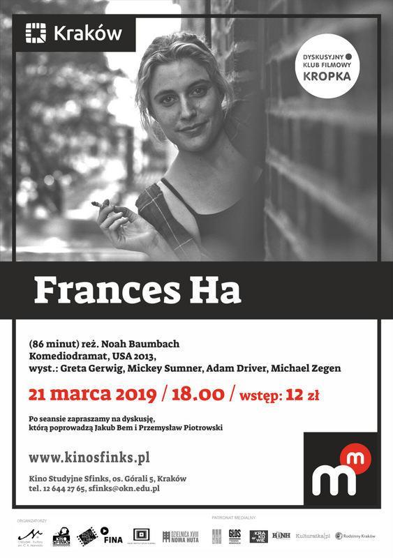 "DKF ""Kropka"": Frances Ha – Kino Sfinks Zaprasza"