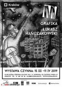 galeria m grafika lukasz hanczakowski 213x300 - Szepty i krzyki - wystawa rysunku Łukasza Hanczakowskiego