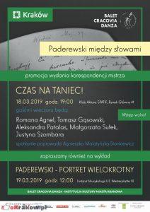paderewski miedzy slowami plakat 212x300 - Paderewski między słowami - Promocja wydania korespondencji mistrza