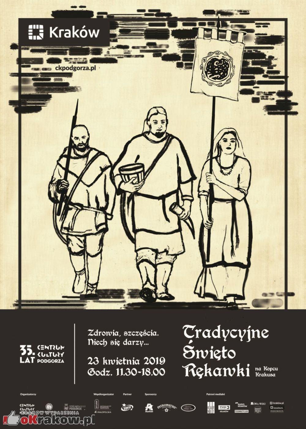 tradycyjne swieto rekawki kopiec krakus krakow - Program Święta Rękawki na Kopcu Krakusa. 23 kwiecień 2019