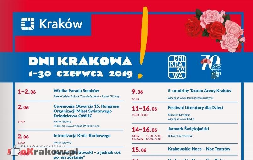 Szczegółowy Program Dni Miasta Krakowa 1-30 czerwca 2019 r.