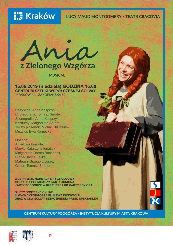 16 czerwca Ania z Zielonego Wzgórza/Teatr Cracovia