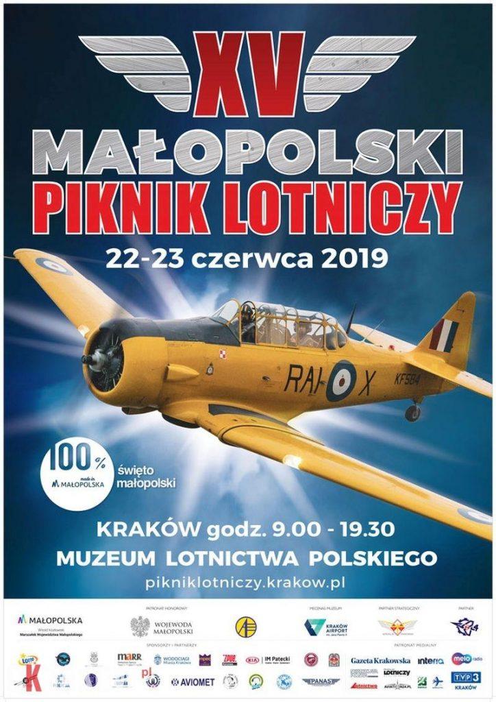 plakat piknik lotniczy malopolska krakow 2019 724x1024 - XV Małopolski Piknik Lotniczy, Kraków, 22-23 czerwca 2019