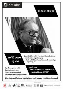 """zanussi krakow 212x300 - Krakowskie Jubileusze Krzysztofa Zanussiego. Projekcja filmu """"Eter"""" z udziałem reżysera"""