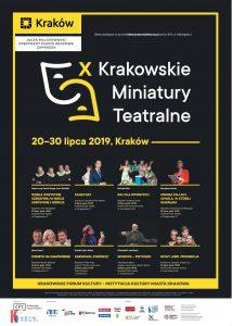 kmt 2019 plakat 214x300 - X Krakowskie Miniatury Teatralne. Jubileuszowa edycja festiwalu teatralnego