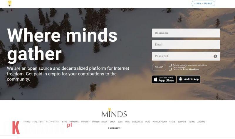 Jesteśmy na MINDS.COM dołącz do nas!