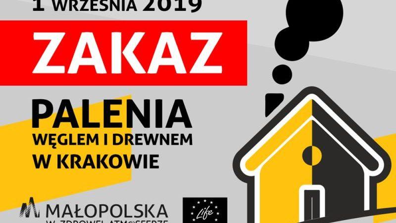 Od 1 września zakaz palenia węglem i drewnem w Krakowie