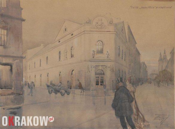 Teatr Bagatela w Krakowie, mal. Janusz Zarzecki, Kraków, 1919 r., akwarela, MHK-1990/VIII