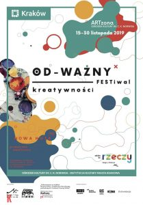 odwazny 209x300 - Odważny Festiwal Kreatywności – dla tych, którzy wierzą, że nigdy nie jest za późno na twórcze życie. 15 – 30 listopada 2019