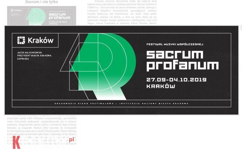 sacrum profanum krakow - #17 Sacrum Profanum: Sacrum i nie tylko