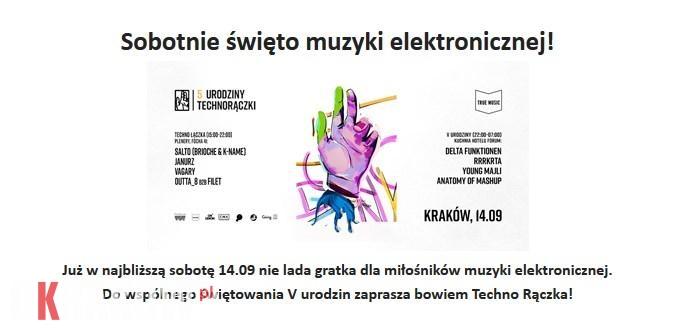 Sobotnie święto muzyki elektronicznej! Kraków 14 września