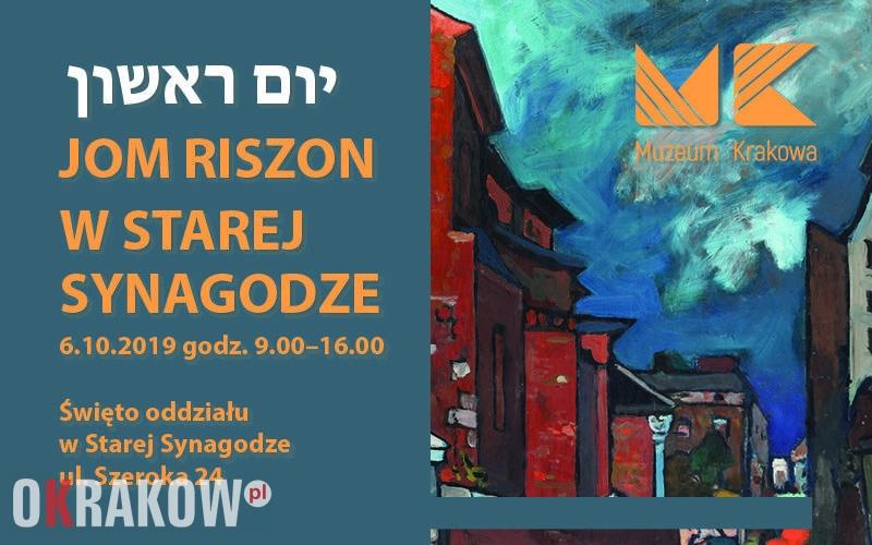 jom riszon b 2 800x500 - Jom Riszon - niedziela w Starej Synagodze. 6.10.2019, godz. 9.00-16.00