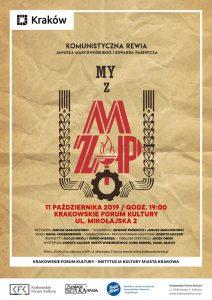 kfk scena zmp 212x300 - Scena KFK w październiku:  My z ZMP – komunistyczna rewia oraz Pieśni Miłości i Nienawiści
