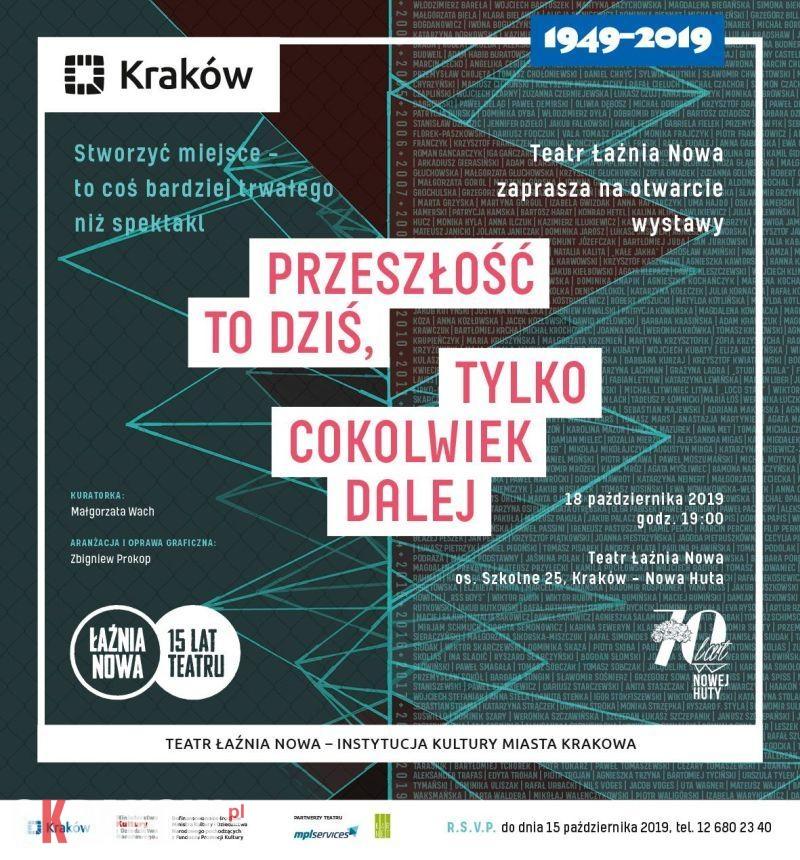 przeszlosc to dzis wernisaz wystawy 18 10 zaproszenie - Wystawa na 15-lecie Teatru Łaźnia Nowa