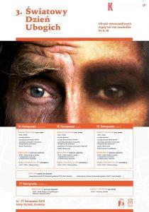 3. swiatowy dzien ubogich plakat 210x300 - Komunikat Kurii Metropolitalnej w Krakowie przed III Światowym Dniem Ubogich