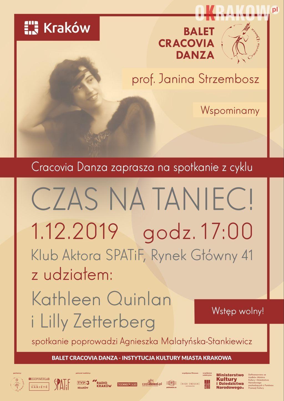 czas na taniec plakat 3 - CZAS na Taniec! Profesor Janina Strzembosz. Wspominamy! W ramach Spotkań imienia prof. Janiny Strzembosz