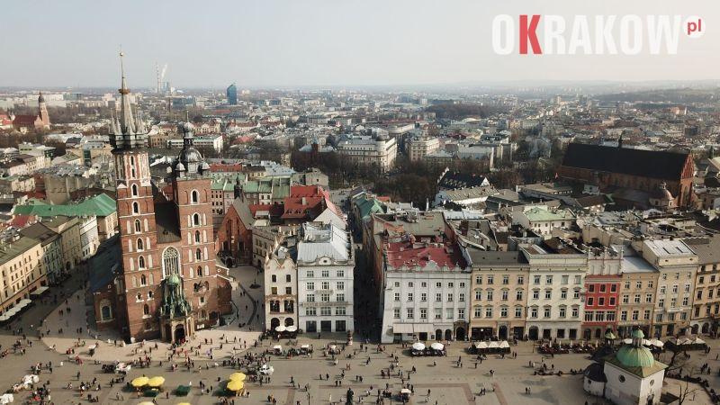 Kraków, Rynek Główny widok z drona film+fot.