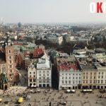 Miasto Kraków, rynek główny z drona