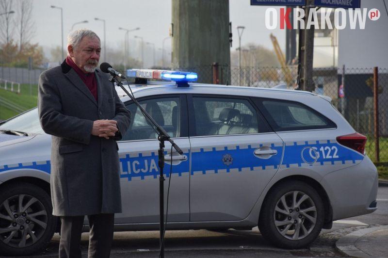 policja - Uroczyste nadanie ulicy nazwy imienia inspektora Marka Woźniczki