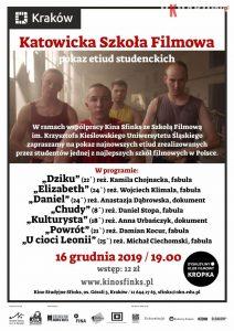 """dkf etiudy 212x300 - DKF """"Kropka"""": Katowicka Szkoła Filmowa - pokaz etiud studenckich"""