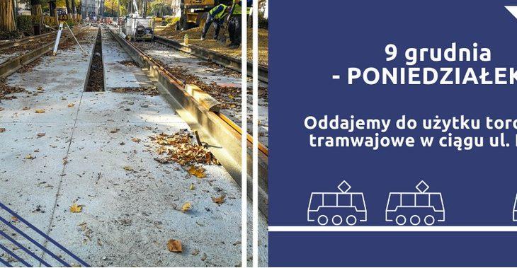krakow dietla torowisko 730x379 - Od 9 grudnia nastąpi przywrócenie kursowania tramwajów na ul. Dietla i Westerplatte
