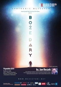 plakat spotkanie 213x300 - Spotkanie Mężczyzn - Boże Dary (Środa 18 grudnia 2019)