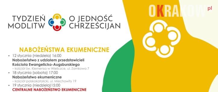tydzien modlitw - Krakowskie obchody Tygodnia Modlitw o Jedność Chrześcijan / 18-25 stycznia 2020