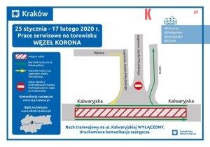 zdmk krakow 300x211 - Zmiany w organizacji ruchu! 25 stycznia -17 lutego br. prace serwisowe na węźle Korona
