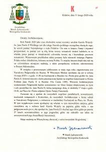 apel pielgrzymka narodowa 211x300 - Metropolita krakowski zaprasza na Narodową Pielgrzymkę do Rzymu z okazji 100. rocznicy urodzin Karola Wojtyły – św. Jana Pawła II