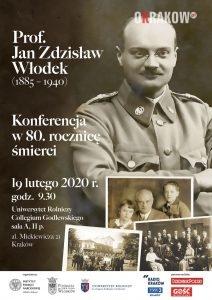 plakat konferencyjny ipn 212x300 - Prof. Jan Zdzisław Włodek (1885-1940) w 80. rocznicę śmierci. Konferencja naukowa w Krakowie – 19.02.2020
