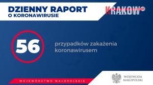koronawirus malopolska 300x167 - Aktualnie w Małopolsce zakażenie koronawirusem zostało potwierdzone u 56 osób.