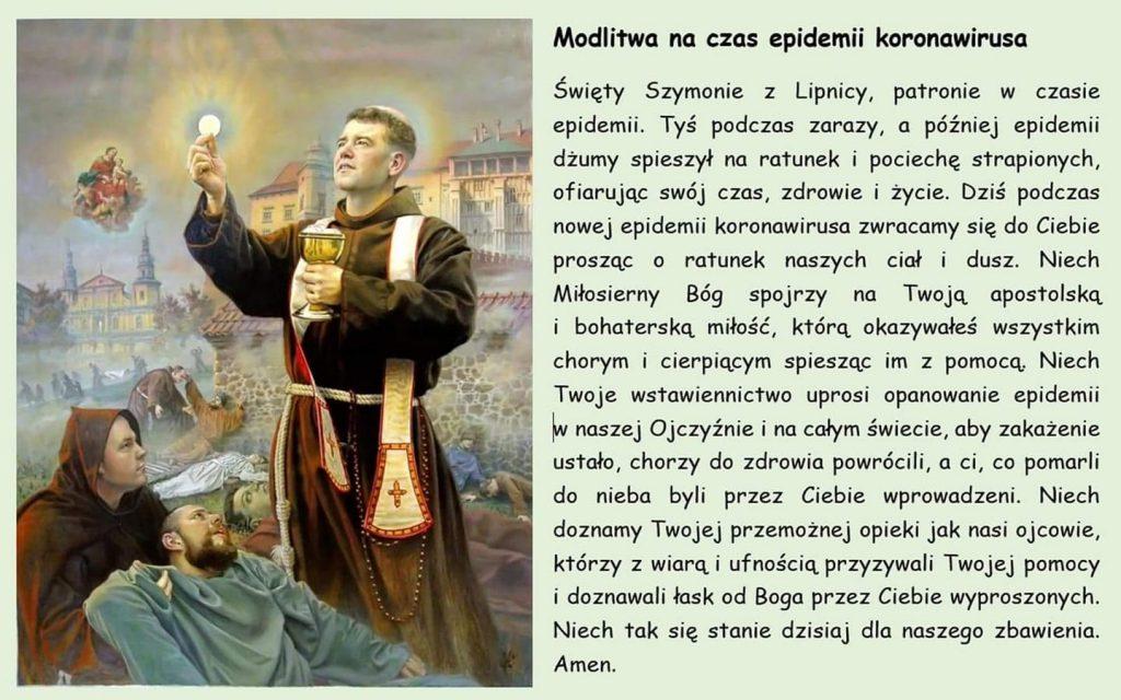 modlitwa swiety szymon z lipnicy 1024x640 - Modlitwa na czas epidemii koronawirusa za wstawiennictwem Świętego Szymona z Lipnicy