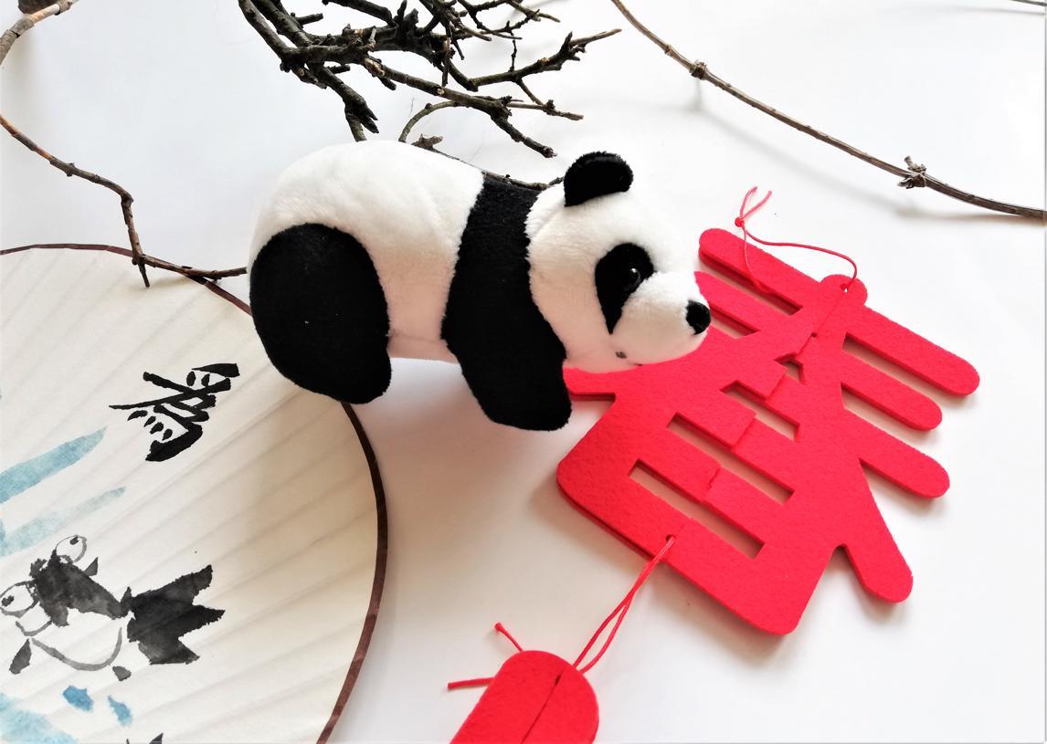 panda i wachlarz 1 - Wakacyjny kurs j. chińskiego dla dzieci online