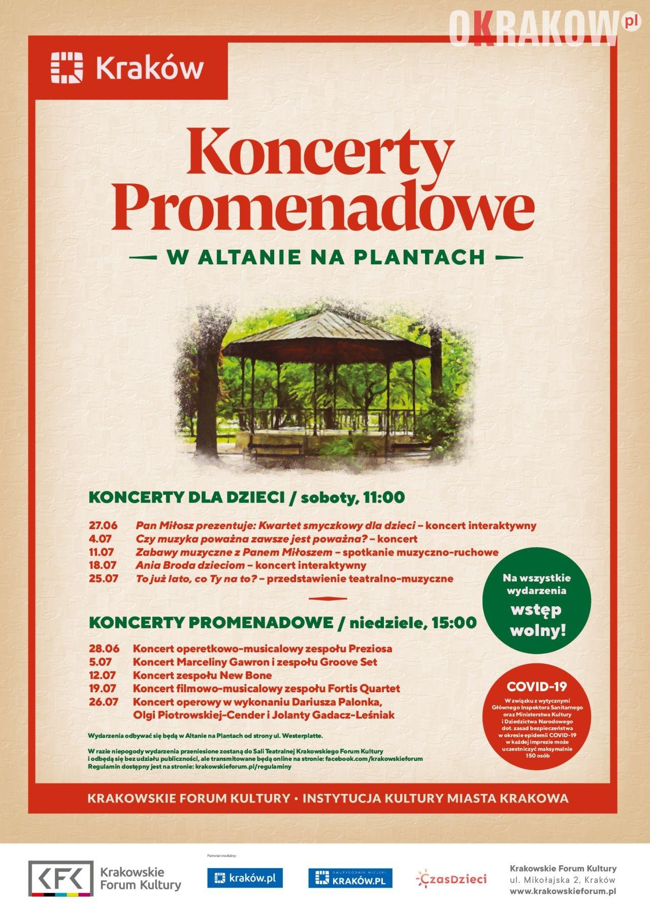 plakat 2 212x300 - Koncerty Promenadowe powracają na krakowskie Planty!