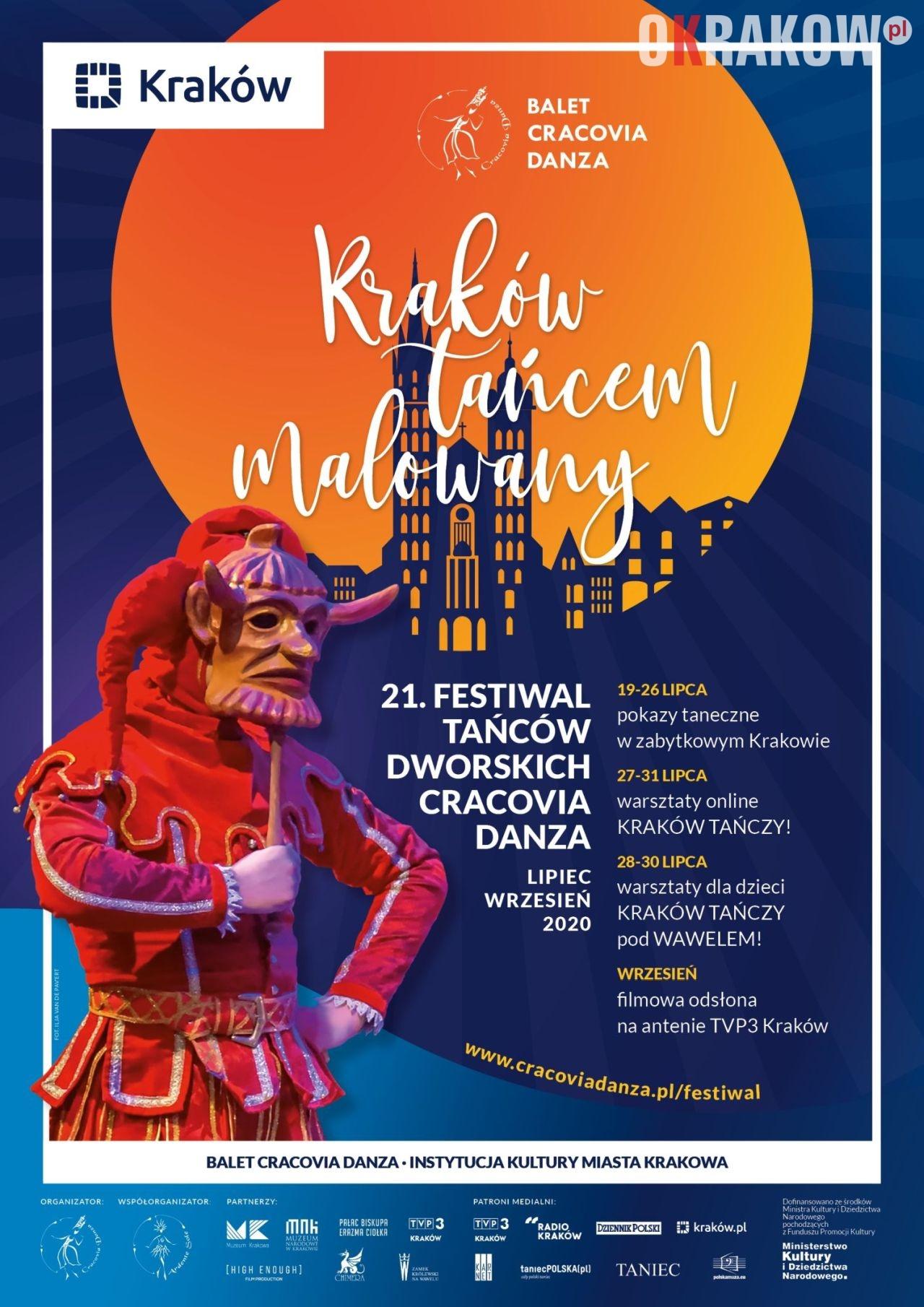 "21. festiwal tancow dworskich cracovia danza plakat 212x300 - Kraków tańcem malowany 21. Festiwal Tańców Dworskich ""Cracovia Danza"" lipiec-wrzesień 2020"