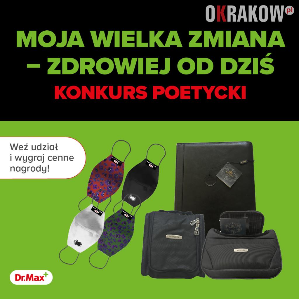 """baner 1200x1200 konkurs poetycki3 - Konkurs """"MOJA WIELKA ZMIANA – ZDROWIEJ OD DZIŚ"""" w Krakowie"""