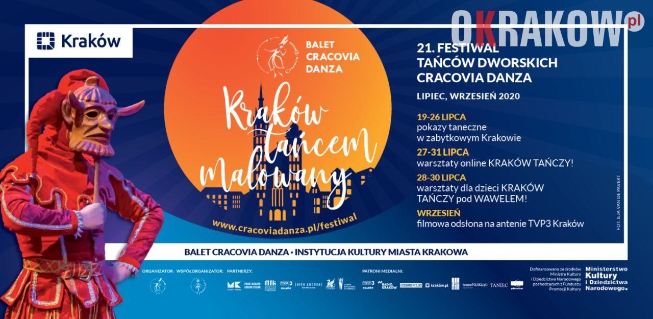 """start 2 - Kraków tańcem malowany 21. Festiwal Tańców Dworskich """"Cracovia Danza"""" lipiec-wrzesień 2020"""